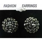 512396-302  Charcoal Crystal Earring in Gun metal