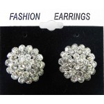 512396-101 Clear Siver Crystal Earring