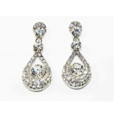 512399-101 Clear Crystal Earring in Silver