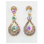 512399-201R  Rose Gold  Crystal Earring