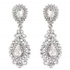 512406 Crystal Silver Earring