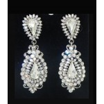 512406-101  Crystal Silver Earring
