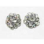512407-101AB  Clear Crystal Earring