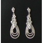 512411 Crystal Clear Silver Earring