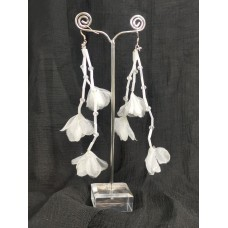 512424 Silk Flower Bridal Earring