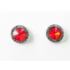 512426-107 Red Earring in Silver