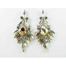 512429-108  Topaz Crystal Earring in Silver