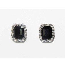 512430-102  Black Earring in Silver