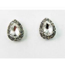 512431-101  Drop Shape Earring in Silver