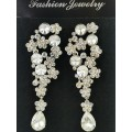 512434-101 Silver Crystal Earring