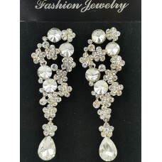 512434-101 Silver Crystal Earring
