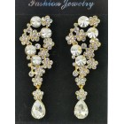 512434-201 Clear Gold Crystal Earring
