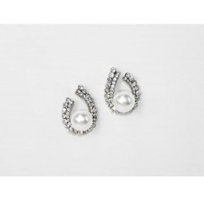 512501-101 Clear Crystal with Pearl Earring