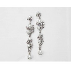 512502-101 Clear in Silver Earring with Pearl