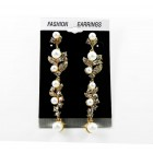 512502-201 Clear in Gold Earring with Pearl