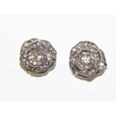 512504-101  Crystal Earring in Silver