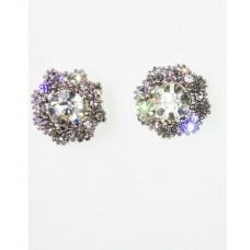 512505-101 Crystal Earring in Silver