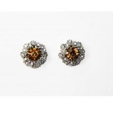 512505-108 Topaz  Crystal  Earring in Silver
