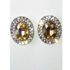 512509A Topaz Crystal Earring in Silver