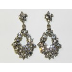 512512-101  Crystal Earring in Silver