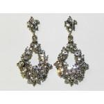 512512-101  Crystal Earring in Silver
