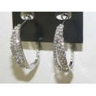 512513-101 Clear Crystal Earring in Silver