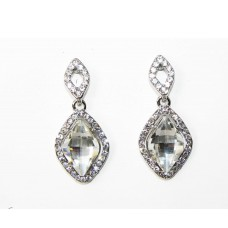 512522-101 Clear Crystal Earring in Silver