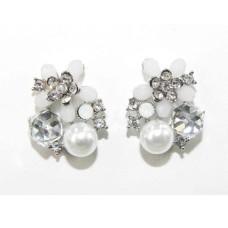 512526-101 Crystal Earring & Pearl