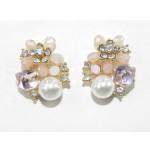 512526-109 Rose Pink Crystal Earring
