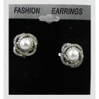 512527-101 Crystal Clear Earring & Pearl