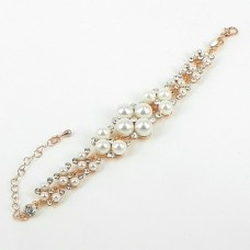 513096 Rose Gold Crystal Bracelet  & Pearls