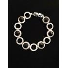 513102-102 Black Crystal  Bracelet in Silver