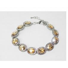 513103-108 Topaz Crystal Bracelet in Silver