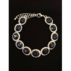 513103-117 Crystal Clear Bracelet in Navy