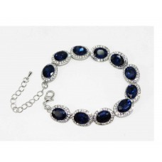 513103 Crystal Clear Bracelet in Navy