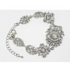 513104 Crystal Clear Bracelet in Silver