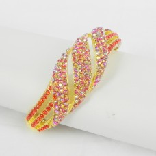 514081-207 Red Crystal in Gold Bangle
