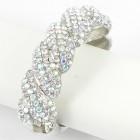 514158 clear ab crystal bangle