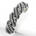 514158 black crystal bangle