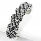 514158 black crystal bangle