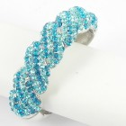 514158 Aqua Blue crystal bangle