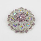 515064 Purple in Silver Brooch