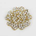 515065 Clear in Gold Brooch