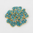 515065 Aqua in Gold Brooch