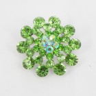515072 Baby Green in Silver Brooch