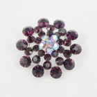 515072 Purple in Silver Brooch