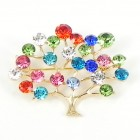 515085 Multi in Silver Brooch