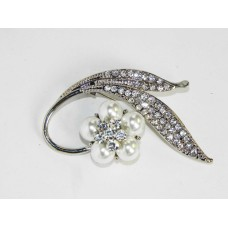 515105 Clear Crystal Brooch with Pearl