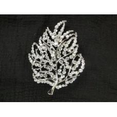 515110-101 Silver Brooch in Leave shape