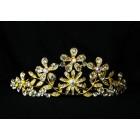516074-201ab Crystal Tiara in gold